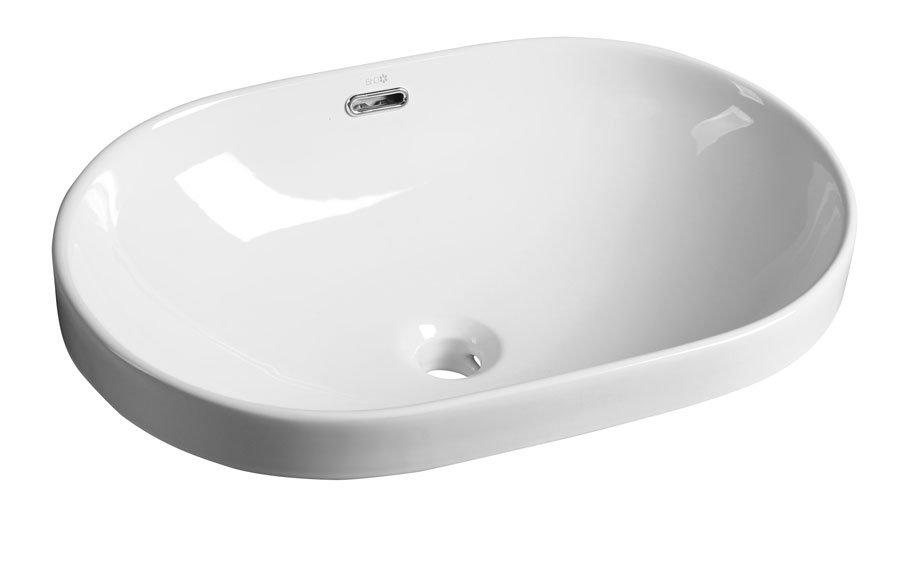 LIMA keramické umyvadlo 59,5x17,5x39,5 cm, polozápustné BH7022