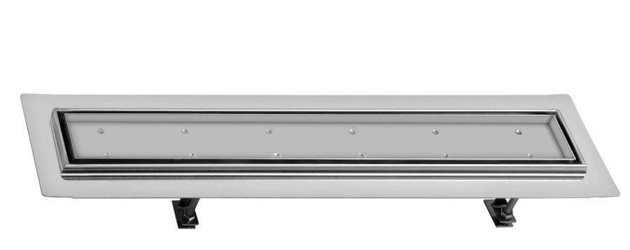 FLOW 67 nerezový kanálek s roštem pro dlažbu, do prostoru 670x150mm FP202