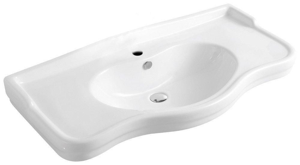 Keramické umyvadlo 101x49,5x28 cm, nábytkové 20142
