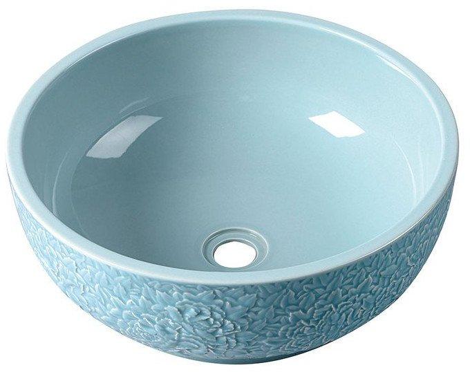 PRIORI keramické umyvadlo, průměr 43cm, blankytná modř PI014
