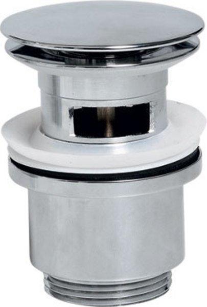Uzavíratelná kulatá umyvadlová výpusť kliklak, velká zátka, chrom CV1007