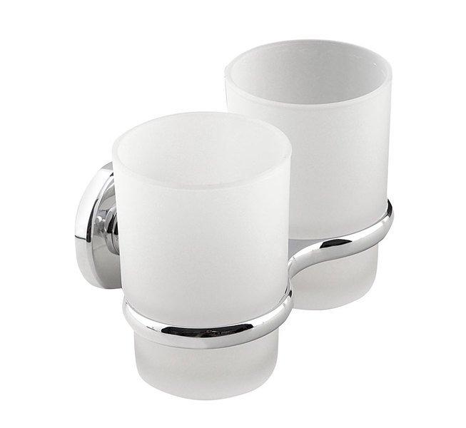SAMBA dvojitý držák skleniček, mléčné sklo SB105