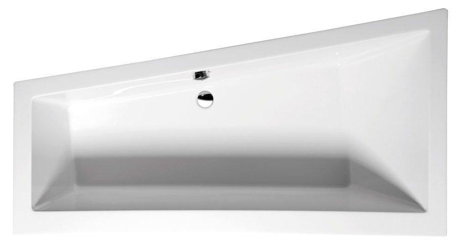 ANDRA L asymetrická vana s podstavcem 180x90x45cm, levá, bílá 72872