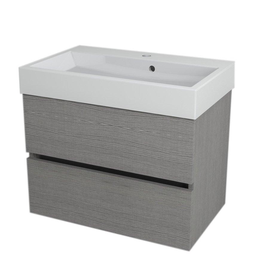LARGO umyvadlová skříňka 67x50x41cm, dub stříbrný LA700