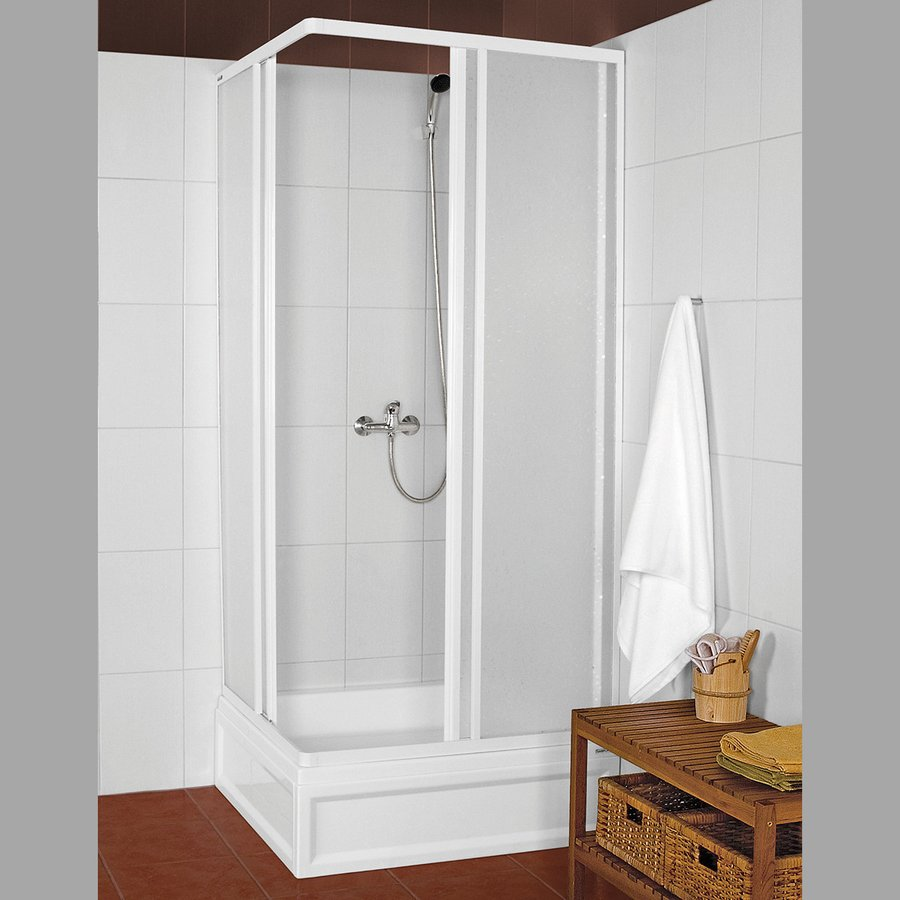 KNS čtvercová sprchová zástěna 800x800mm, bílý profil, polystyren výplň KNS-C-80