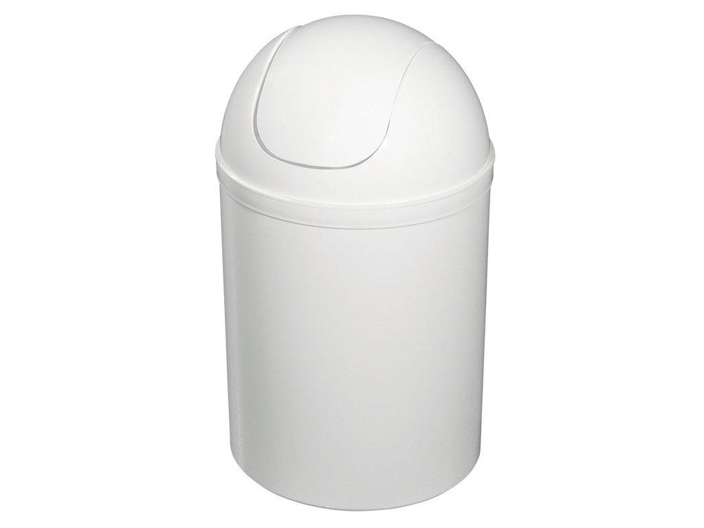 Odpadkový koš výklopný, 5l, plast, bílá 20309