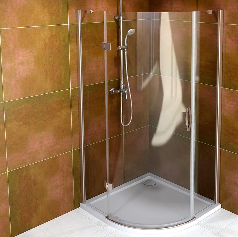 LEGRO čtvrtkruhová sprchová zástěna jednokřídlá 900x900mm, čiré sklo GL6590