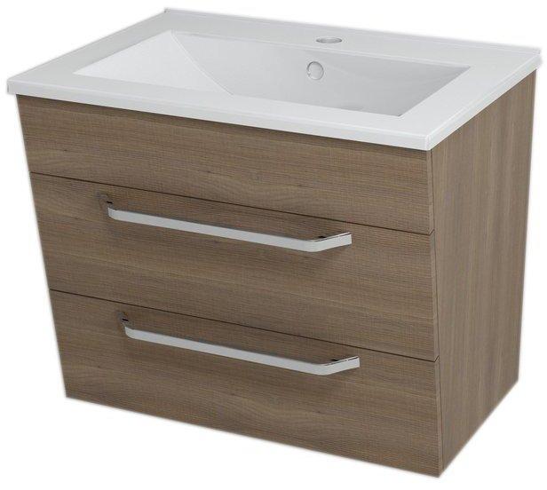 KALI umyvadlová skříňka 59x50x46cm, ořech bruno 56063