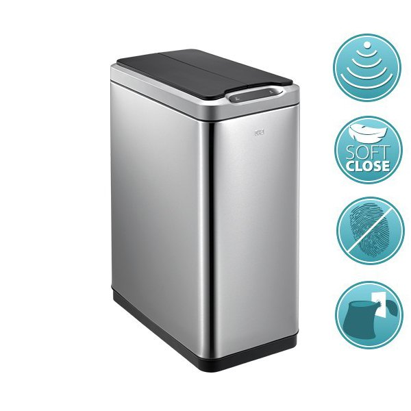 PHANTOM bezdotykový odpadkový koš 30l, Soft Close, nerez mat DR430