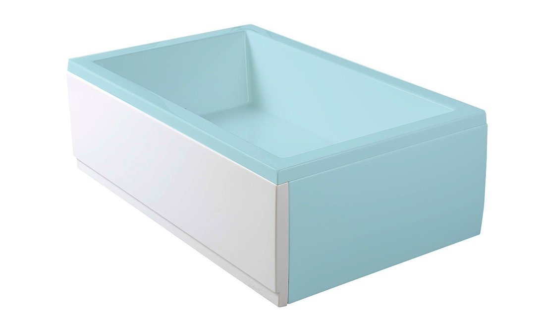 DEEP PLAIN 100, panel čelní, levý, 100x36cm, bílá 83626