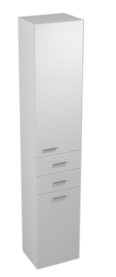 ZOJA/KERAMIA FRESH skříňka vysoká s košem 35x184x29cm, pravá, bílá 51235