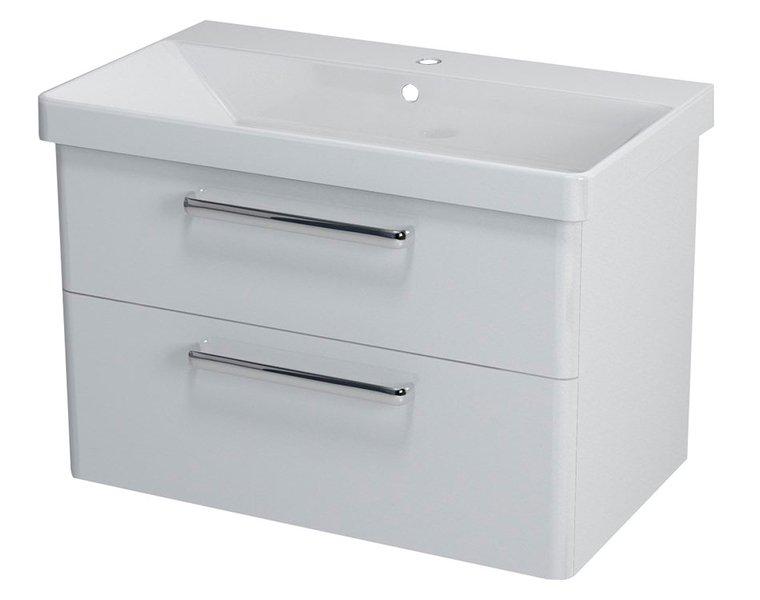 THEIA umyvadlová skříňka 75,6x50x44,2cm, 2xzásuvka, bílá TH080