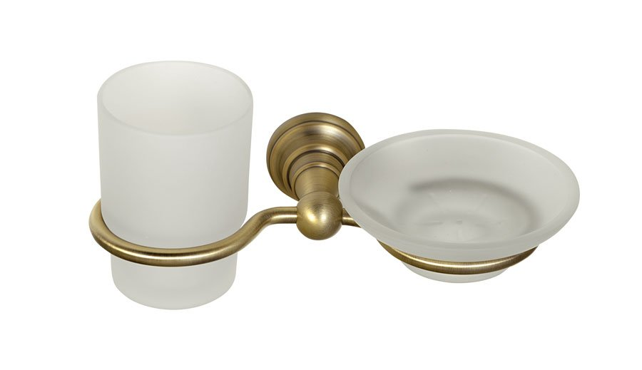 DIAMOND mýdlenka, sklenka, bronz 1318-04