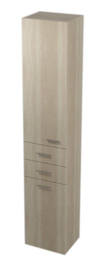 ZOJA/KERAMIA FRESH skříňka vysoká s košem 35x184x29cm, levá, dub platin 51232