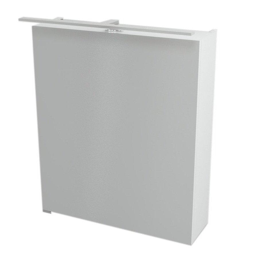 RIWA galerka s LED osvětlením, 60x70x17cm, bílá RW062