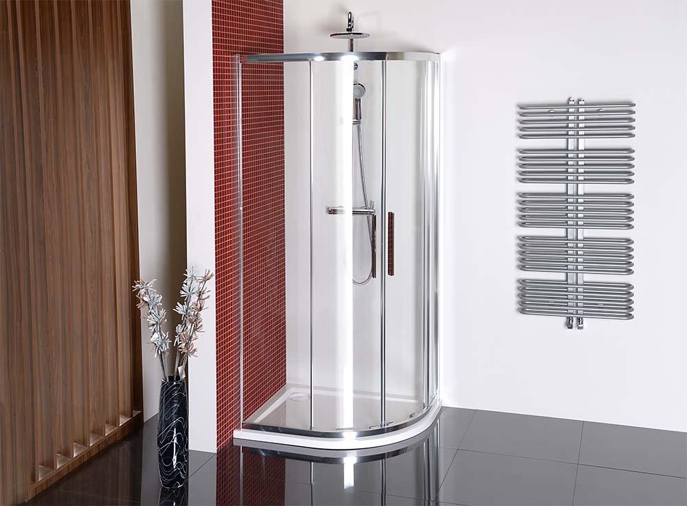 LUCIS LINE čtvrtkruhová sprchová zástěna 900x800mm, L/R DL5215