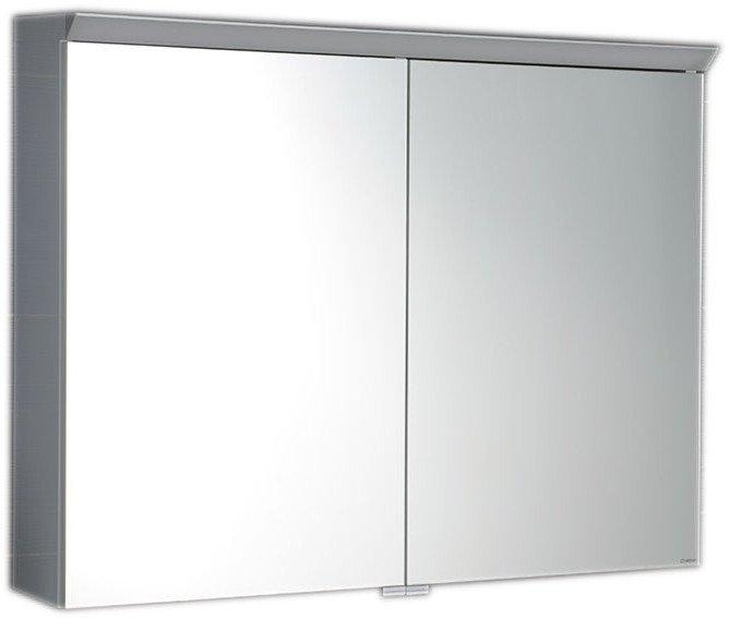 TOBI galerka s LED osvětlením, 80x63x17cm, bílá TB080
