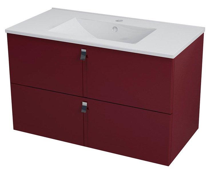 MITRA umyvadlová skříňka 89,5x55x45,2 cm, bordó MT093