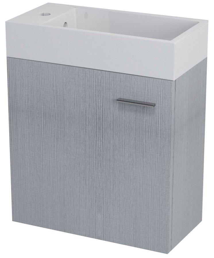 LATUS IV umyvadlová skříňka 49,5x50x25cm, dub stříbrný LT410