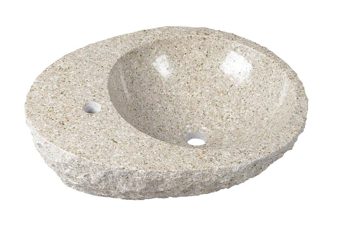 BLOK kamenné umyvadlo, 56x46x15cm, hrubý kámen 2401-27