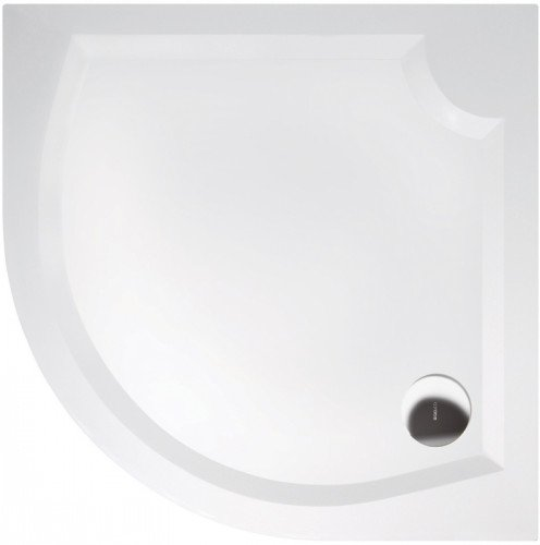LAURA80 sprchová vanička z litého mramoru, čtvrtkruh 80x80x4cm, R500 GL508