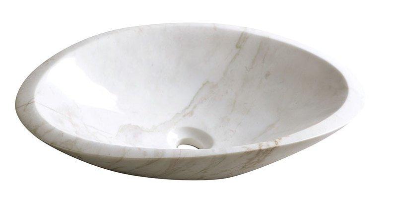 BLOK 16 kamenné umyvadlo 58x38x14cm, bílý mramor, leštěný 2401-22