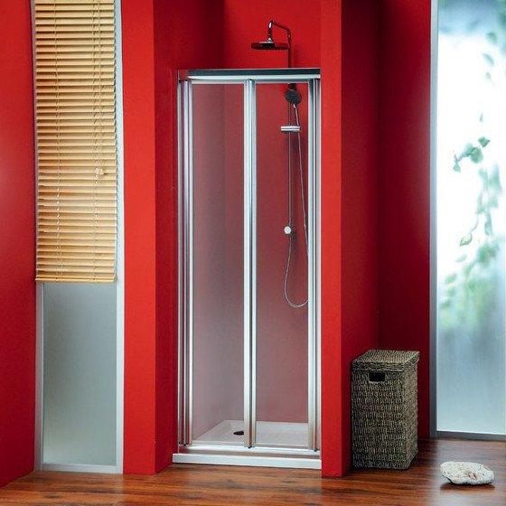 SIGMA sprchové dveře skládací 900mm, sklo Brick SG3849