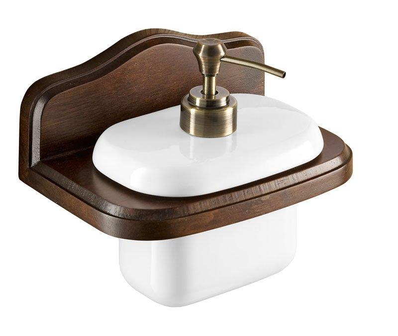MONTANA dávkovač mýdla, keramika/dřevo 81810
