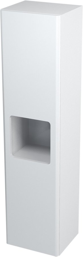 ELLA skříňka vysoká s košem 35x140x30cm, pravá, bílá 70125P