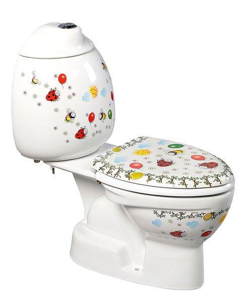 KID dětské WC kombi vč.nádržky, spodní odpad, barevný potisk CK301.400.0F