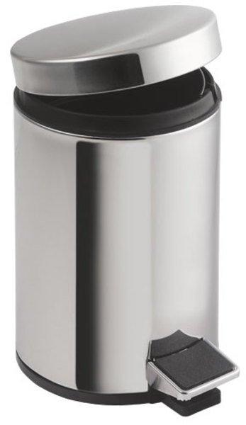 SIMPLE LINE odpadkový koš kulatý 12l, leštěná nerez 27112