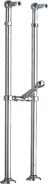 ANTEA připojení pro instalaci vanové baterie do podlahy (pár), chrom 9841