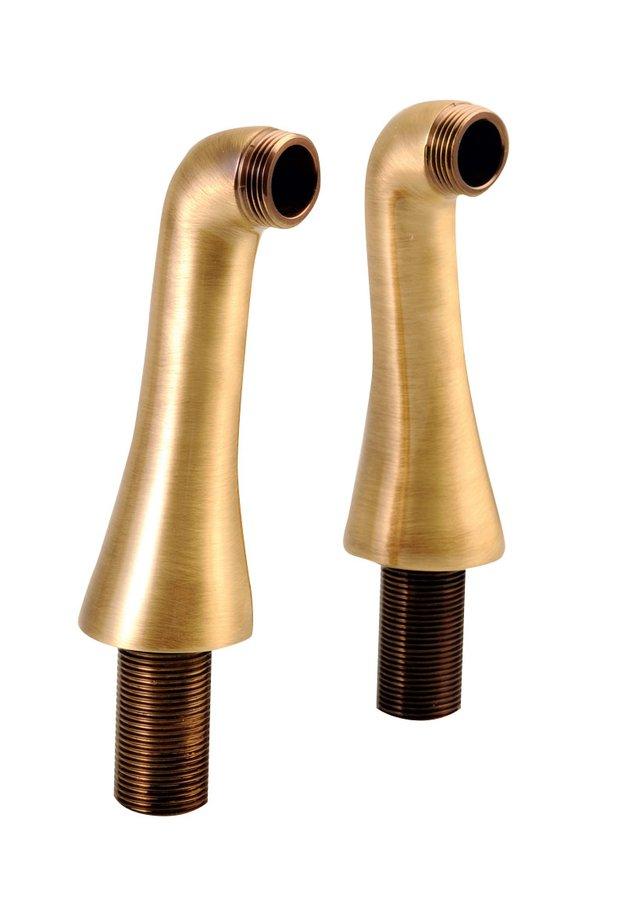 ANTEA připojení pro instalaci vanové baterie na okraj vany (pár), bronz 9856