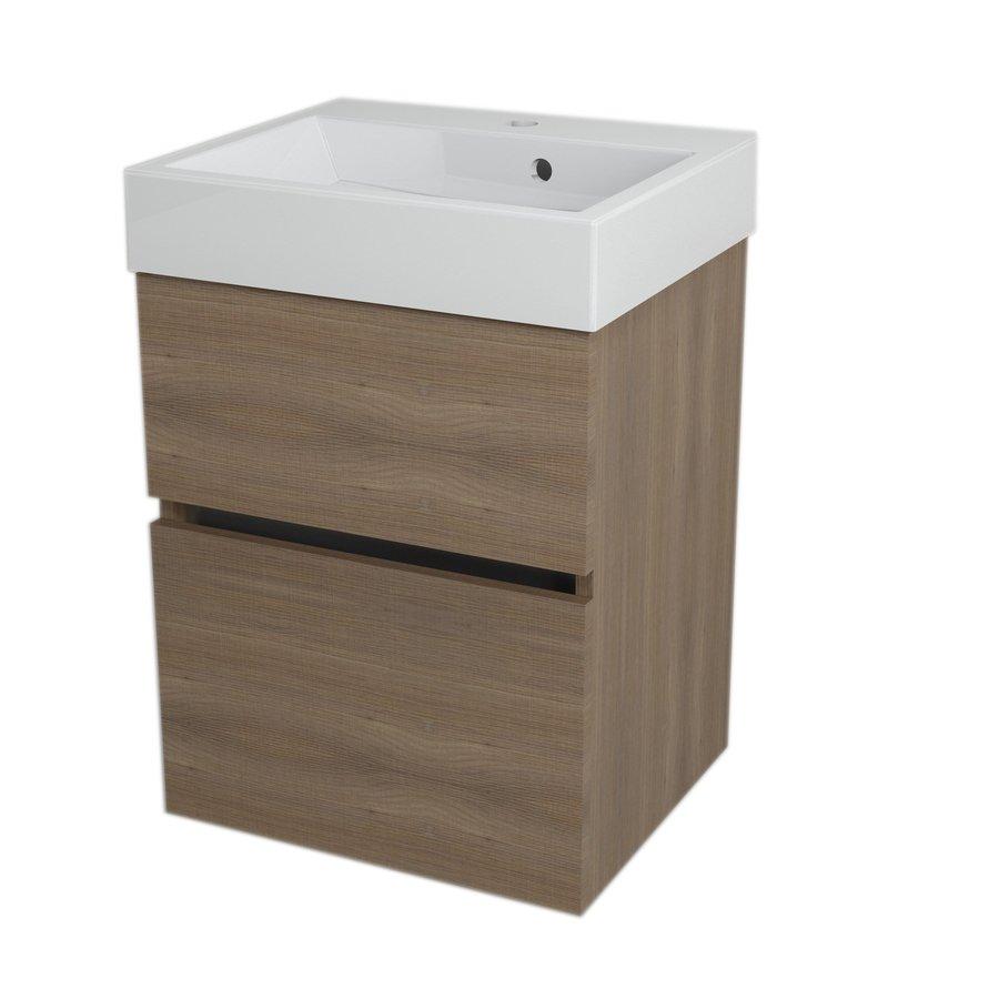 LARGO umyvadlová skříňka 49x60x41cm, ořech bruno LA503