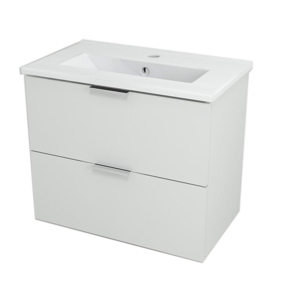 ALEXIS umyvadlová skříňka 59x50x35cm, bílá pololesk AX061
