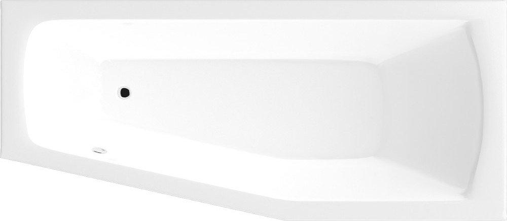 OPAVA vana 160x70x39cm bez nožiček, pravá, bílá A1671