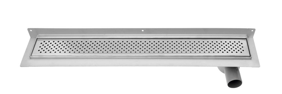 KROKUS nerezový odtokový žlab s roštem, ke zdi, vč. sifonu, 860x122 mm 2715-90