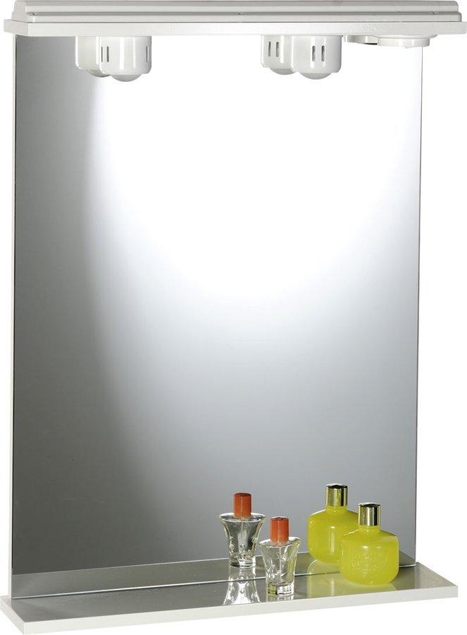 EKOSET zrcadlo s osvětlením 60x75x12cm, bílá 57059