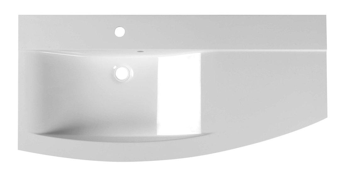 ARAS umyvadlo 105,2x50,5cm, litý mramor, levé, bílá 91060