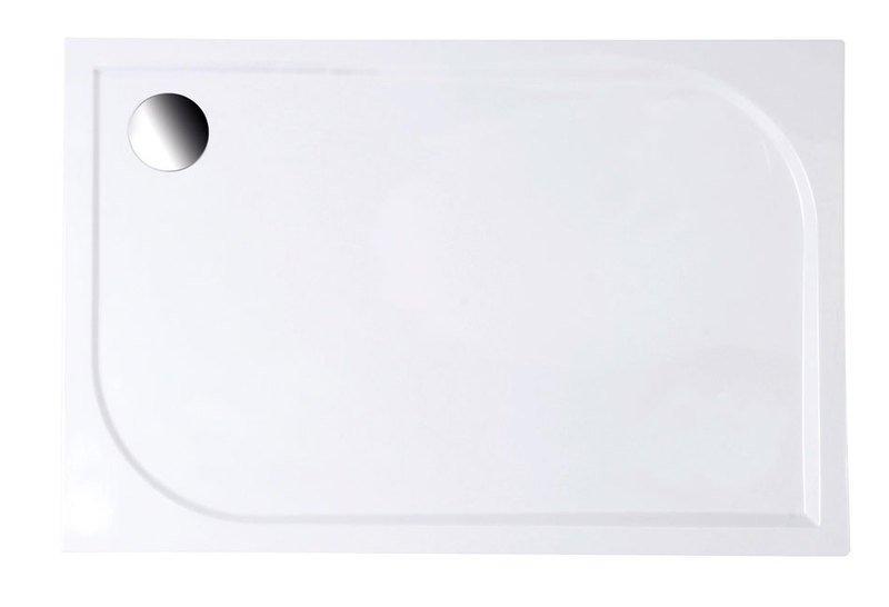 GALET 120/80 sprchová vanička z litého mramoru, obdélník, 120x80x3 cm LQ12080