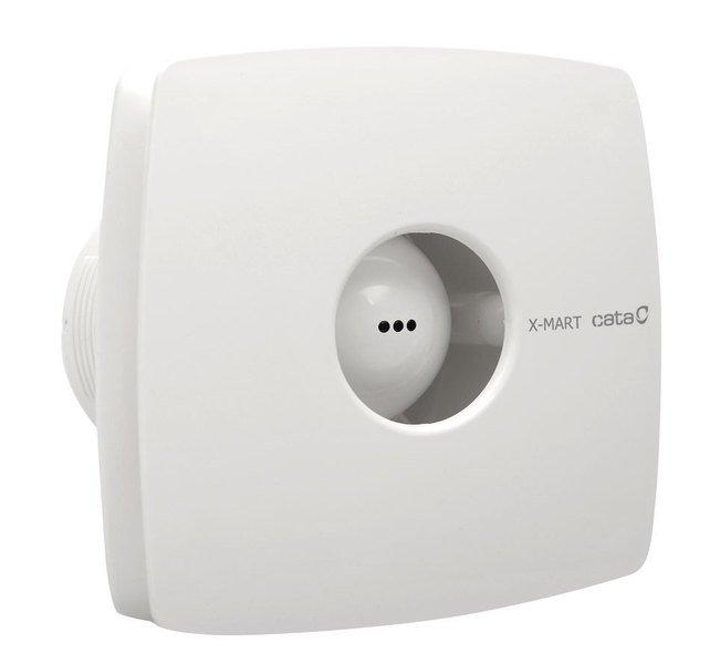 X-MART 10T koupelnový ventilátor axiální s časovačem, 15W, potrubí 100mm, bílá 1011000