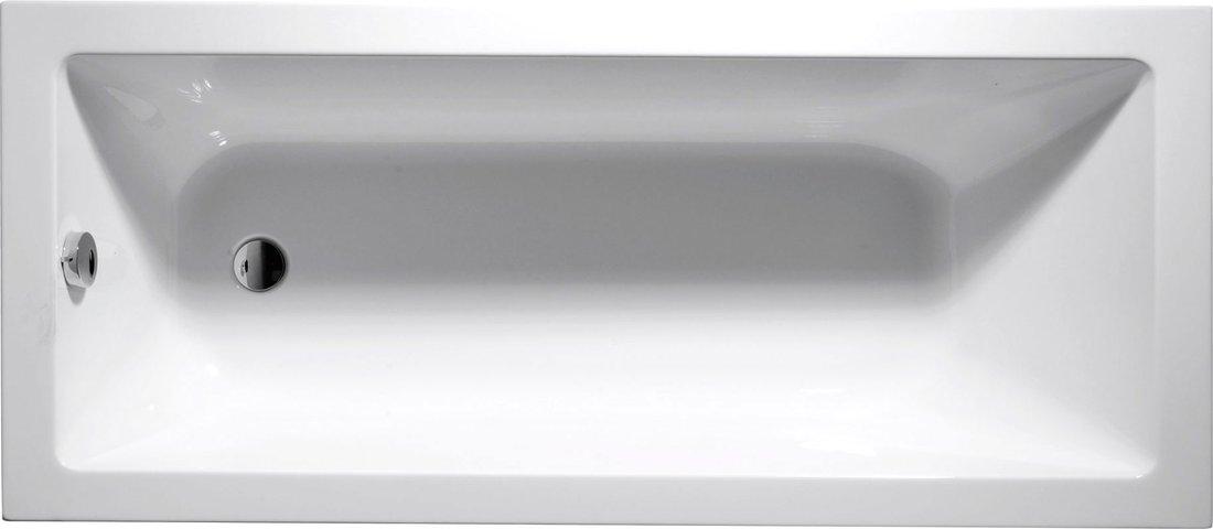 DOUBRAVA obdélníková vana 160x70x42cm bez nožiček, bílá A1670