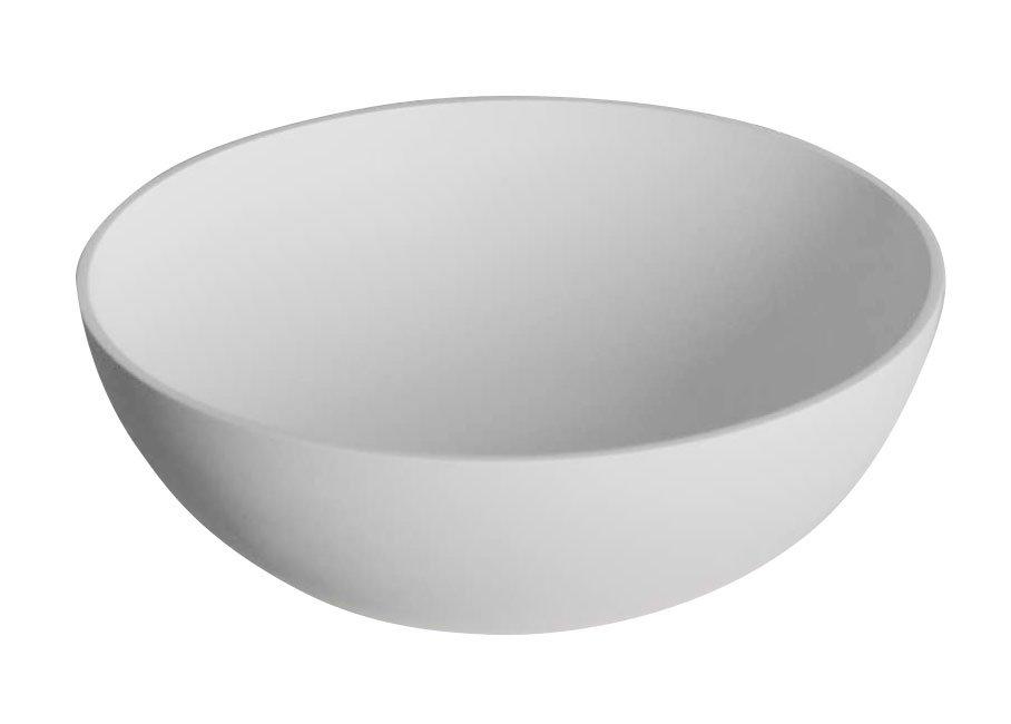 THIN kulaté umyvadlo na desku, 390x145mm, bílá mat WN185