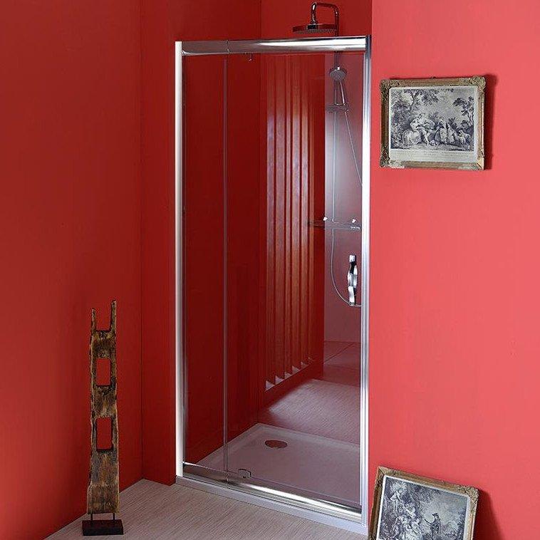 SIGMA sprchové dveře otočné 780-920mm, čiré sklo SG1216