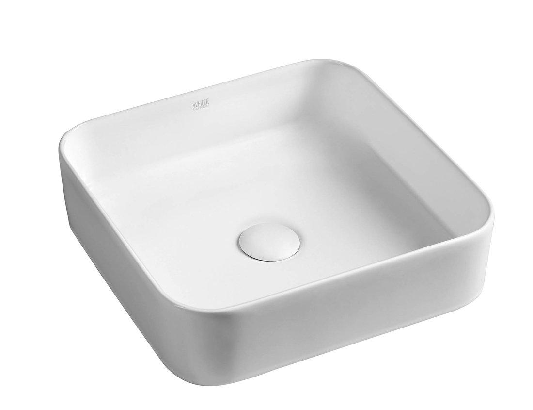 BLADE keramické umyvadlo 40x11,5x40 cm, na desku, bez přepadu W050701