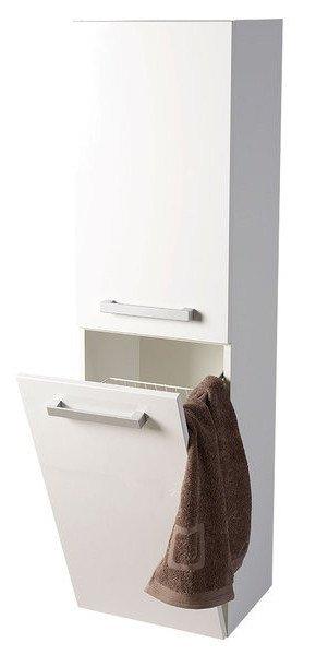 VEGA skříňka vysoká s košem, 40x150x31cm, levá/pravá,bílá VG160