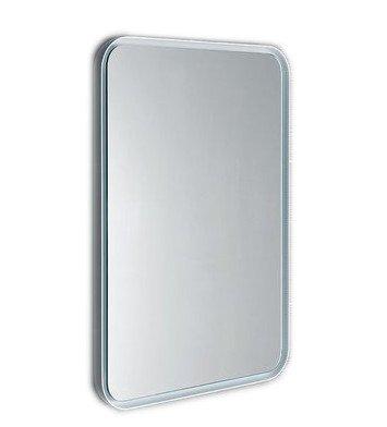 FLOAT zaoblené zrcadlo v rámu s LED osvětlením 600x800mm, bílá 22572