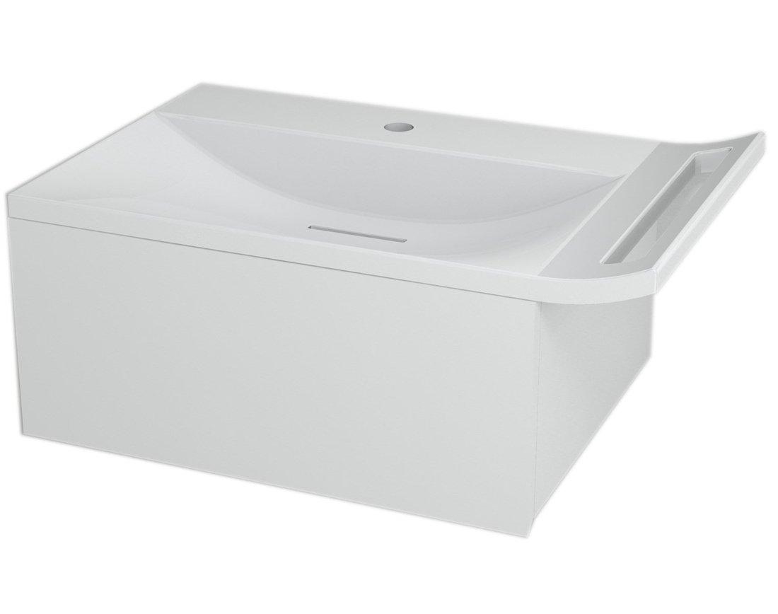 ZEUS umyvadlová skříňka vč. sifonu 60x26x45 cm, bílá ZE070