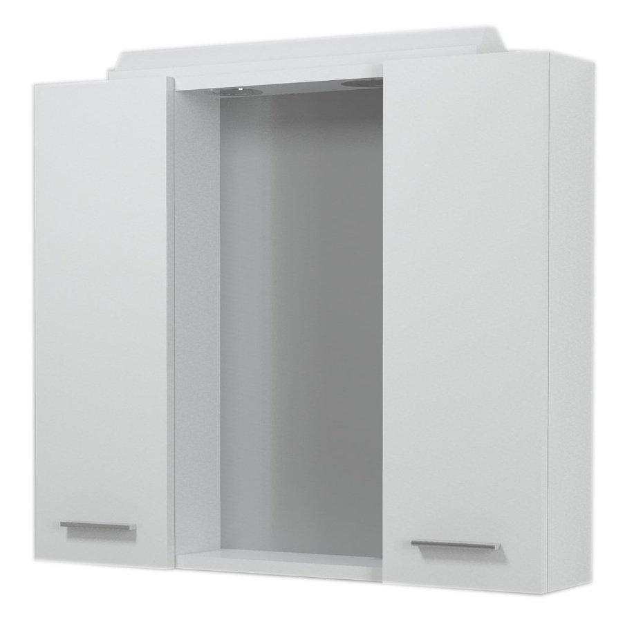 ZOJA/KERAMIA FRESH galerka s halogenovým osvětlením, 70x60x14cm, bílá 45025