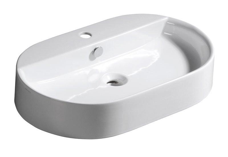 RING keramické umyvadlo 65x12x40cm, na desku 28501